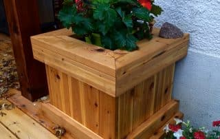 Cedar deck planter
