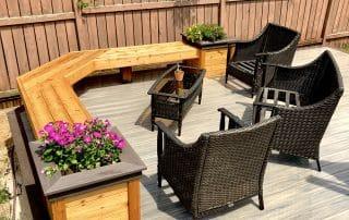 Cedar bench with Wolf PVC trim