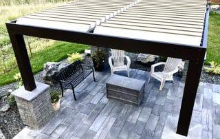 Equinox louvered roof - aluminum pergola