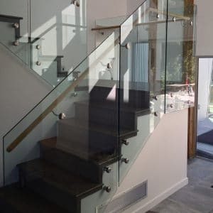 Standout glass railing